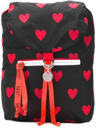 RED Valentino RED(V) heart backpack