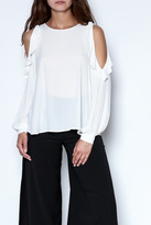 Lush Ruffle Long Sleeve Blouse