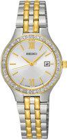 Seiko Women's Two-Tone Stainless Steel Bracelet Watch 27mm SUR758
