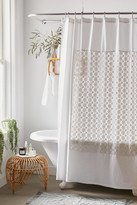 Urban Outfitters Winslow Crochet Inset Shower Curtain