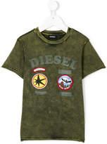 Diesel acid wash patch T-shirt