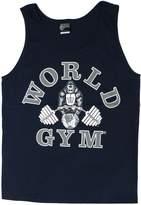 W321 World Gym Tank Top Athletic-Cut Classic Logo
