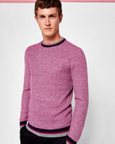 Ted Baker Textured Wool-blend Jumper Fuchsia