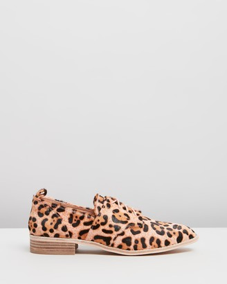 Nude Marley Lace-up Flats
