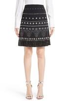 St. John Women's Classic Stretch Cady A-Line Miniskirt