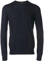 Alexander McQueen satin embroidered jumper - men - Silk/Cotton - XS