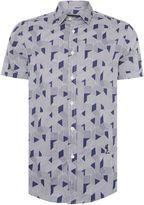 Religion Men's Optic regular fit geo stripe print shirt