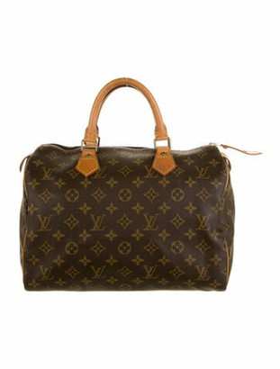 Louis Vuitton Vintage Monogram Speedy 30 Brown