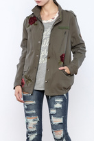Honey Punch Rose Military Jacket
