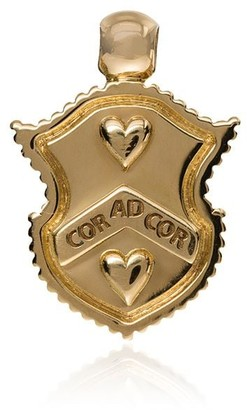 Foundrae 18kt Yellow Gold Shield Charm