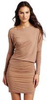 BCBGMAXAZRIA Women's Laheld Long Sleeve Side Draped Tunic Dress