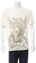 Gucci 2016 Paradise Bird Print Linen T-Shirt w/ Tags