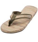 Indosole Men's Green Grass Mat Flip Flop 8132536