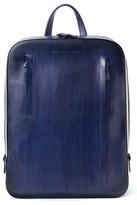 Magnanni Men's Leather Sport Backpack - Blue