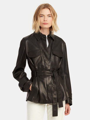 Vince Leather Safari Jacket