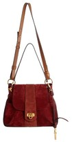 Chloé Small Lexa Suede Shoulder Bag - Red