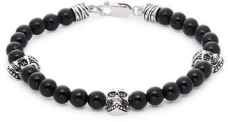 Effy Sterling Silver, Black Onyx, & Black Diamond Bead Bracelet