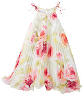 Iris & Ivy Pleated Chiffon Tapeze Dress (Little Girls)