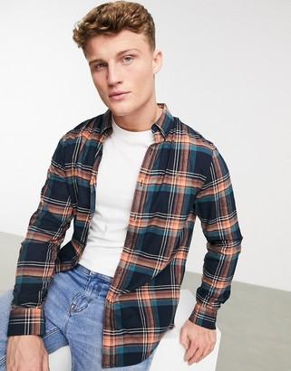 Farah butterfield long sleeve plaid shirt