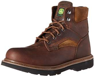 John Deere Men's 6 Brn Farm/Wrk Steel Toe EH LU Work Boot
