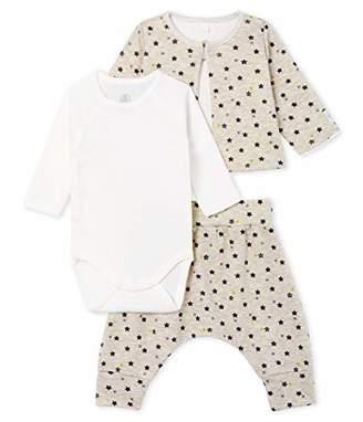 Petit Bateau Baby Boys' Ensemble 3 Pieces_5069101 Clothing Set,36 (Size: /74centimeters)