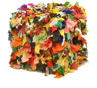 Idea Nuova Multi Color Decorative Pouf