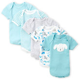 Rene Rofe Newborn/Infant Boys) 5-Pack Blue Pup Bodysuits