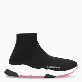 Balenciaga Black/fuchsia Speed sneakers