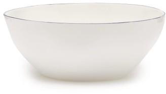 ICECREAM Feldspar - Painted-rim Fine China Ice-cream Bowl - Blue White