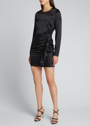 Veronica Beard Rula Silk Ruffle Cocktail Dress