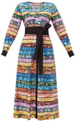 Mary Katrantzou Monroe Cotton-blend Midi Dress - Womens - Multi