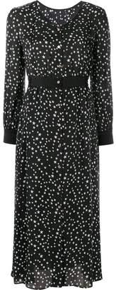 GUILD PRIME star-print satin dress