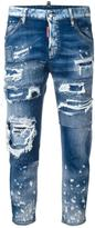 DSQUARED2 Cool Girl cropped jeans - women - Cotton/Polyester/Spandex/Elastane - 36