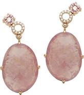 Sangria Jan Logan 18ct Pink Sapphire Diamond Morose Earrings