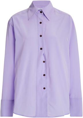 Eftychia Poplin Button-Down Shirt