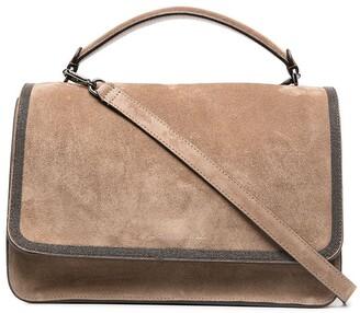Brunello Cucinelli Leather Suede Tote Bag