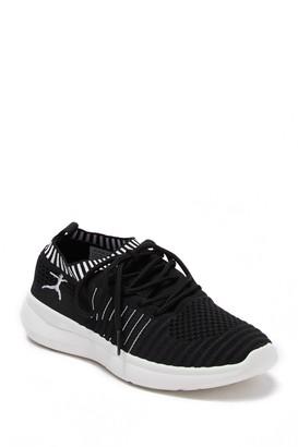 Danskin Energy Lace-Up Stripe Knit Sneaker