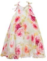Iris & Ivy Floral Pleated Tie Shoulder Dress (Little Girls)