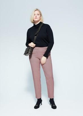 MANGO Violeta BY Slim fit suit pants blue - 10 - Plus sizes