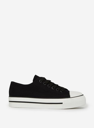 Dorothy Perkins Womens Black Ivana Lace Up Trainer, Black