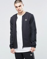 Adidas Originals Blk/wvn Mod Bomber Jacket In Black Bq3528