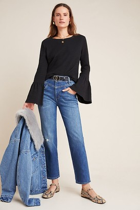 Pilcro And The Letterpress Pilcro Ultra High-Rise Seamed Straight Jeans