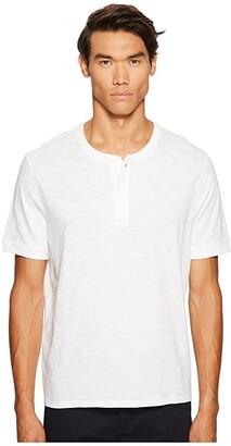 Vince Classic Short Sleeve Henley (Optic White) Men's T Shirt