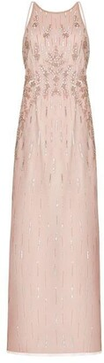 Hailey Logan Beaded Halter Gown