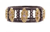 Armenta Carousel Diamond Scroll Stacking Band Ring, Size 6.5