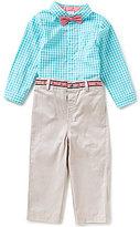 Edgehill Collection Little Boys 2T-4T Gingham Shirt & Pant Set