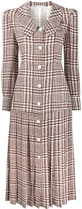 Alessandra Rich Houndstooth Print Dress