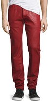 PRPS Demon Heavy Resin-Coated Jeans, Red