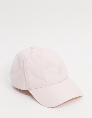 Hollister dad baseball cap in pink with tonal logo