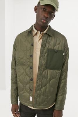 Timberland Mixed Media Green Jacket - Green M at Urban Outfitters